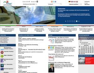 Webseite der Stadt Arnsberg