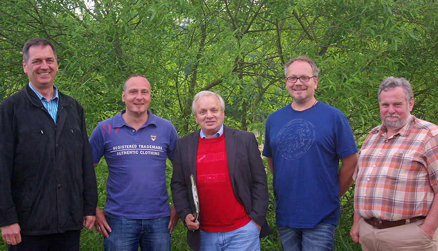 Die neuen Ratsmitglieder der WISU in Sundern: von links Christoph Schulte, Sven Franke, Hans Klein, Andreas Bahde, Werner Kaufmann (Foto: WiSu)