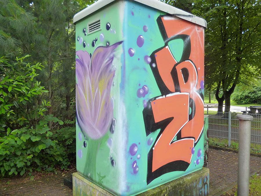 Legales Sprayen ist beim Kulturcamp wieder möglich. (Foto: oe)
