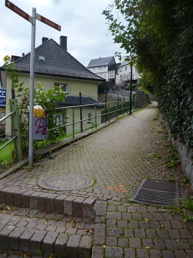 Neues von der Baustelle: Fußweg Kaiserspförtchen gesperrt