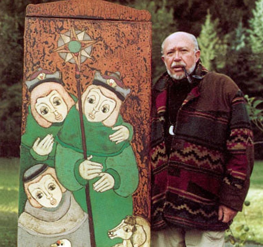 """Udo Wollmeiner, der """"Alte vom Berge"""" aus oeventrop, stellt über Pfingsten bei den Drüggelter Kunst-Stückchen aus. (Foto: Veranstalter)"""