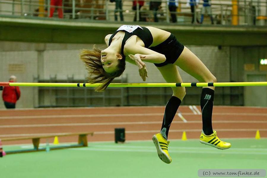 Marie Berghoff aus Oeventrop startet bei den Deutschen U20-Hallen-Meisterschaften im Hochsprung. (Foto: LAC)
