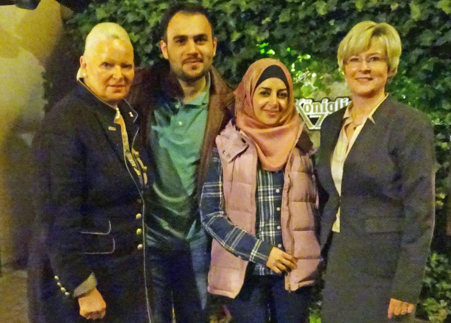 Taha und Lana Shiekh zu Gast bei der Frauen-Union