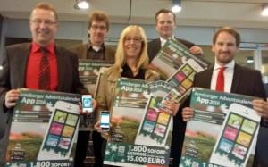 WFA, Stadt und Sponsoren stellten die App im Rathaus vor. (Foto: oe)