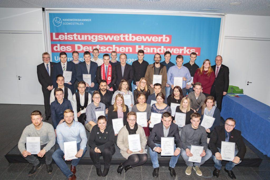 Handwerkskammer feierte im bbz Arnsberg ihre besten Nachwuchskräfte