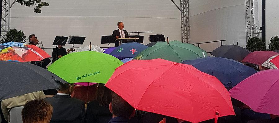 Museum und Macke-Ausstellung: Regen stört Eröffnungsfeier