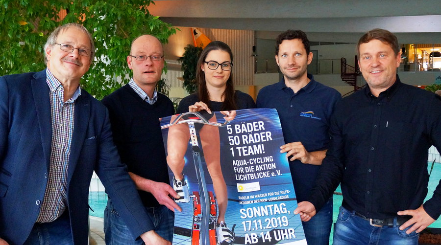 Nass dabei: drittes Aqua-Cycling für Aktion Lichtblicke