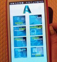 Die Arnsberg-App: übersichtlich und einfach zu bedienen. (Foto: oe)