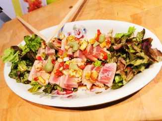 Pittige tonijnsashimi