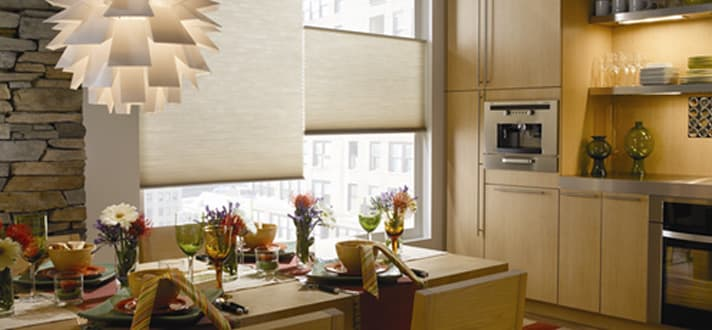Modern Kitchen Blinds style finder: cellular shades in a modern kitchen - the finishing