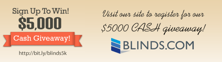 Blinds.com $5000 giveaway