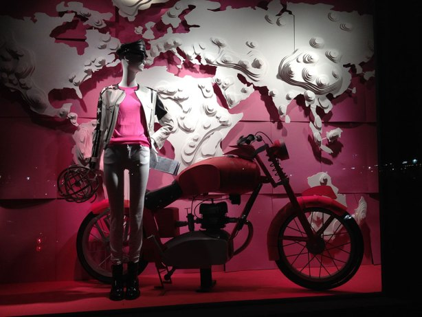 Bergdorf Goodman window dressing