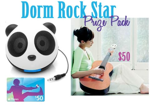Dorm rockstar decorating giveaway