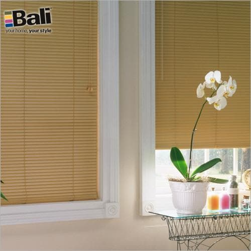 Bali 1 inch light blocker blinds in Camel