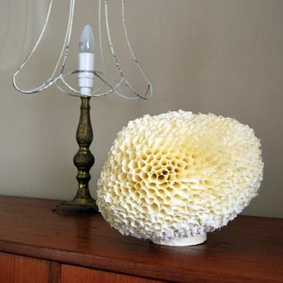 "Make this ""sponge"" lamp from masking tape!"