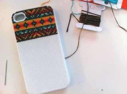 Gifts for DIYers: Crosstitch iPhone Case