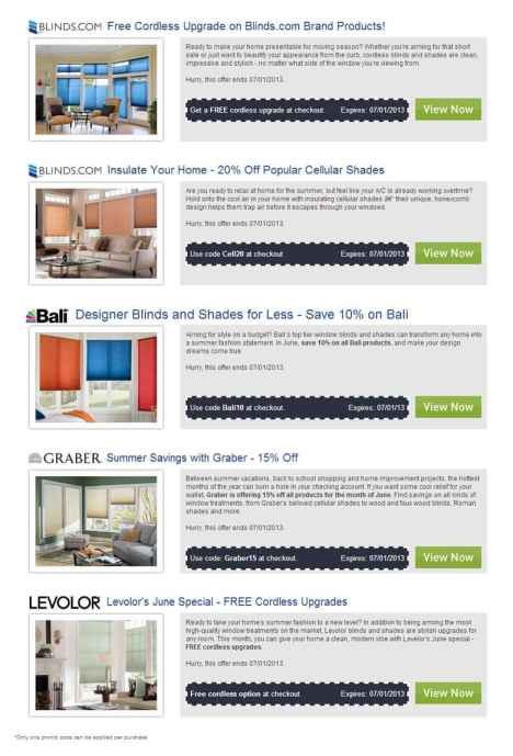 blinds com promo code Blinds.coupons, promotions codes and sales blinds com promo code