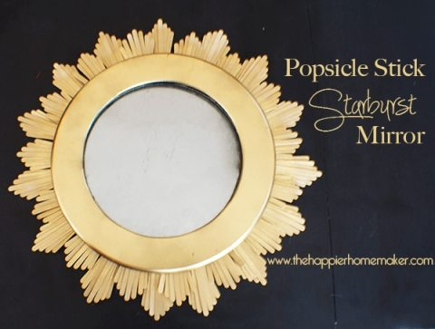 DIY Popsicle Stick Starburst Mirror
