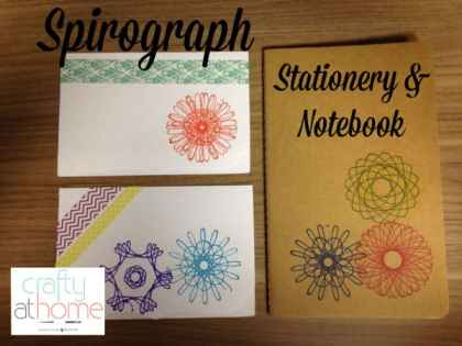 Spirograph Upcycling Stationery and Notebook