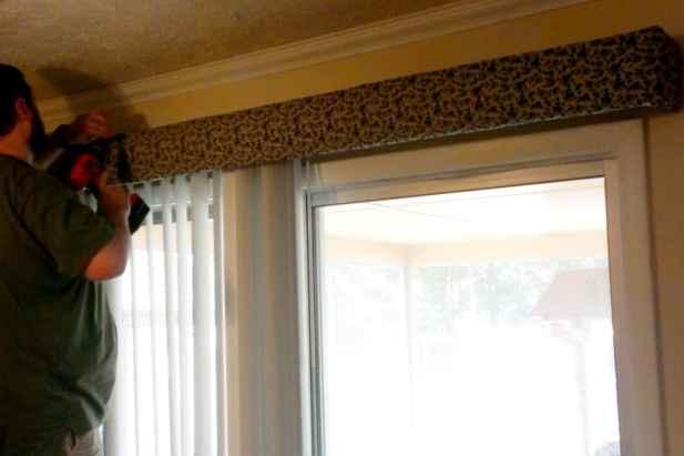 DIY Cornice - Hang Over Window