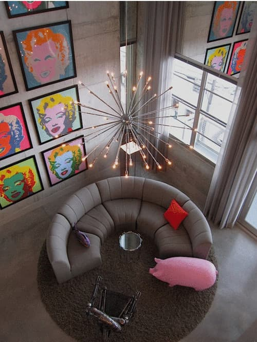 Marilyn Monroe Pop Art Contemporary Living Room By Fort Lauderdale Architects Designers Lawrence C Wald Works
