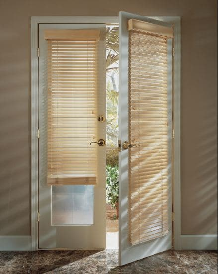No Matter What Type Of Window Treatment You Choose To Install Over Your Door,  You Should First Look To See If You Have Molding Around The Glass.