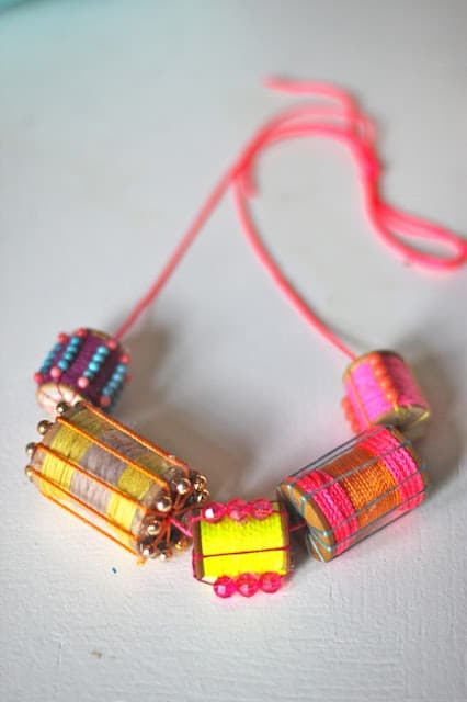 Spools as Jewels Necklace