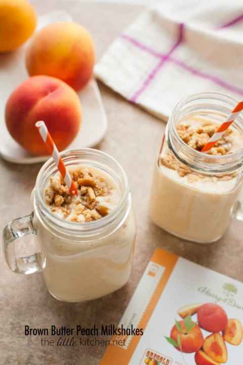 The Little Kitchen Brown Butter Peach Milkshakes