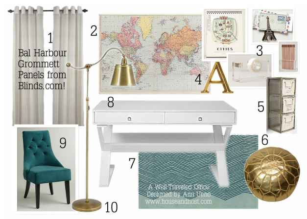 A Well Traveled Office - Blinds.com Styled By House & Host