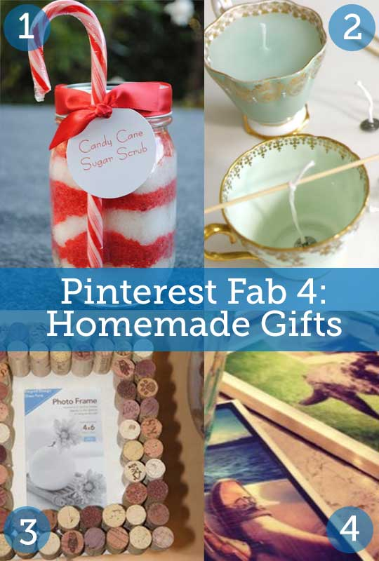 pinterest fab 4 homemade gifts the finishing touch