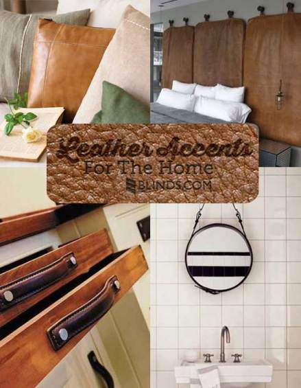 Leather Accents For The Home