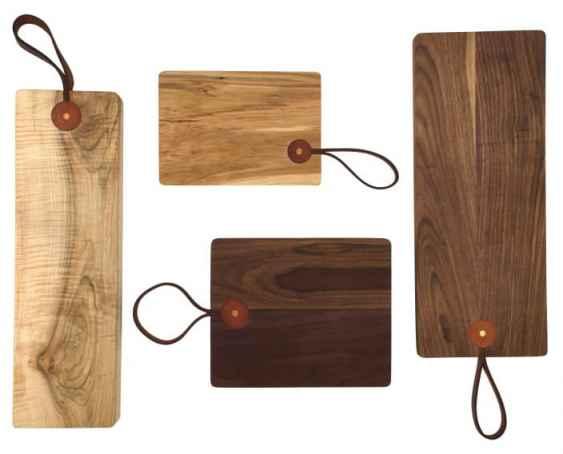 Leather Handle Cutting Board