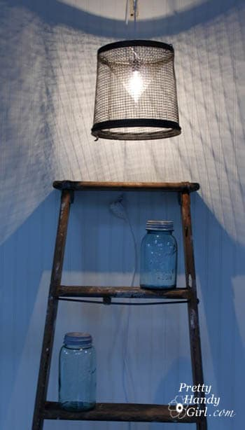 DIY light made from Minnow Trap