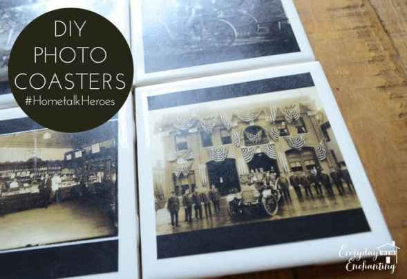Hometalk Heroes DIY Photo Coasters
