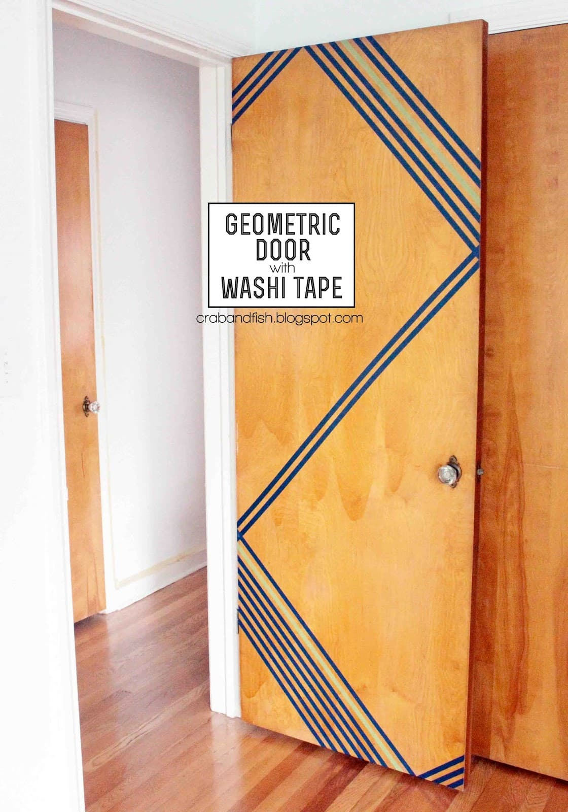 Hello Door Decal; Geometric Door With Washi Tape ...  sc 1 st  Blinds & Dorm Room Decor 101: Make Your Front Door Fab - The Finishing Touch