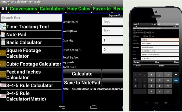 home apps calculator - Decorating Apps