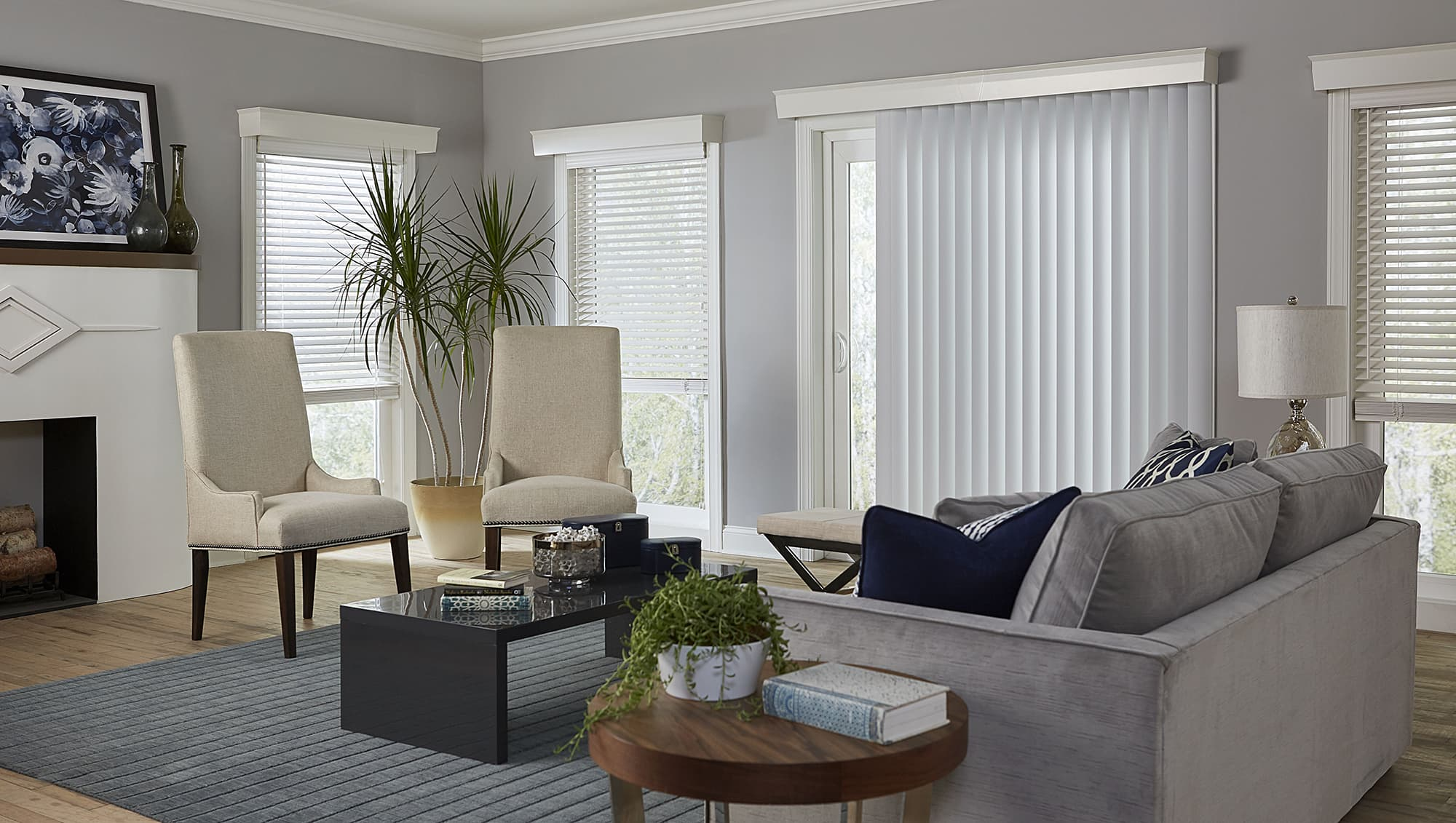 vertical blinds patio door & 10 Things You MUST Know When Buying Blinds For Doors - The Finishing ...