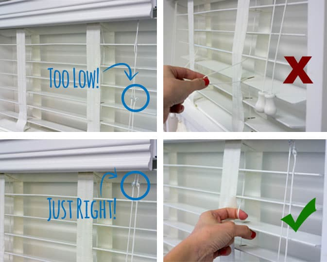 how to install blinds cord stop