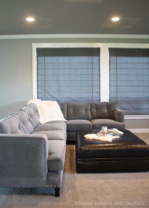 Design Dining and Diapers Living Room Roman Shades