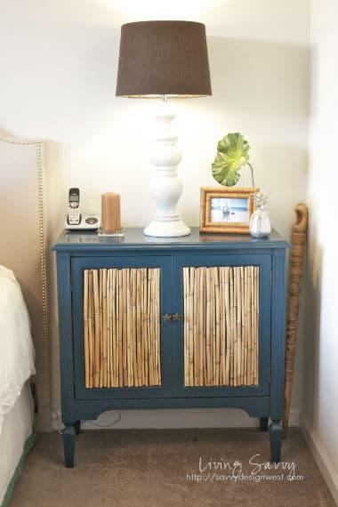 DIY Bamboo nightstand