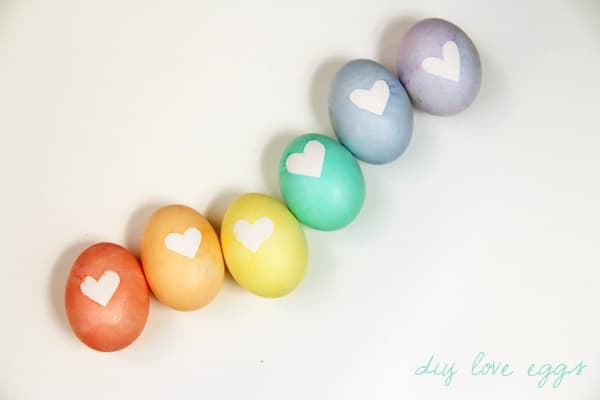 Heart Dyed Eggs