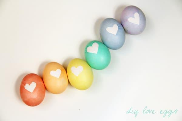 Heart Dyed Eggs