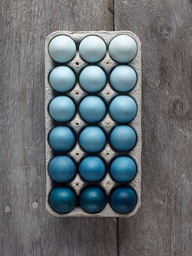 Ombre blue Easter Eggs