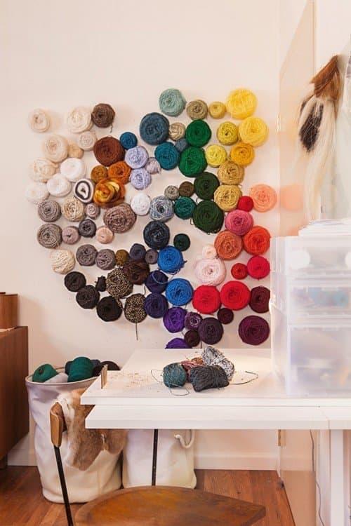 yarn Wall display