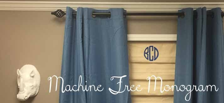 How To Make No Sew Monogrammed Roman Shades Part 97
