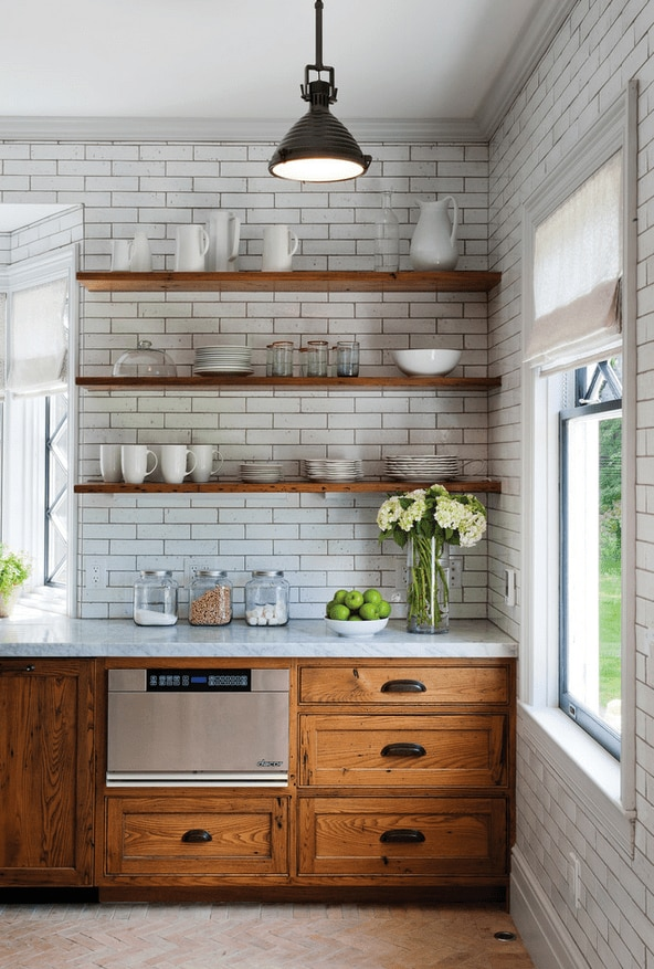 white kitchen roman shades