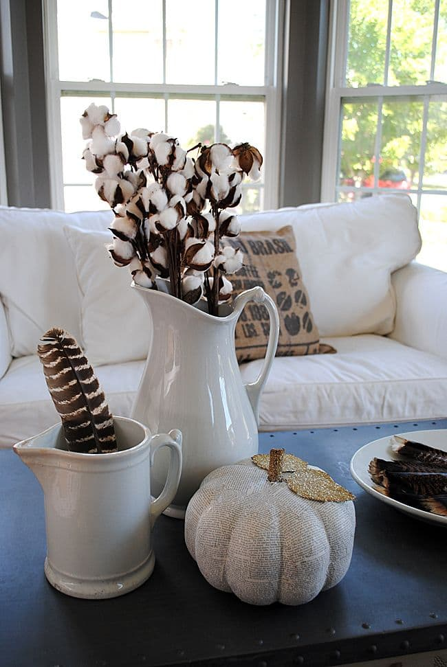 cotton fall home decor