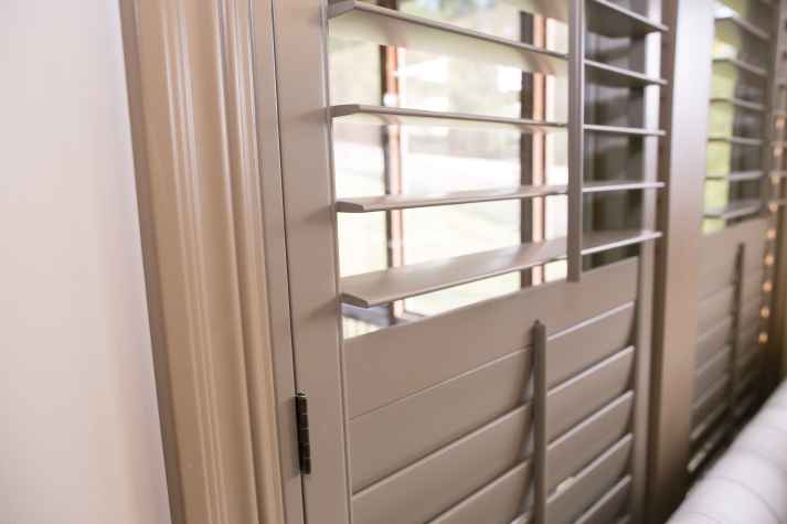 blinds for large windows lightweight seng selected 12u2033 louvers which compliment her tall ceilings and large windows decisions to make before ordering plantation shutters the