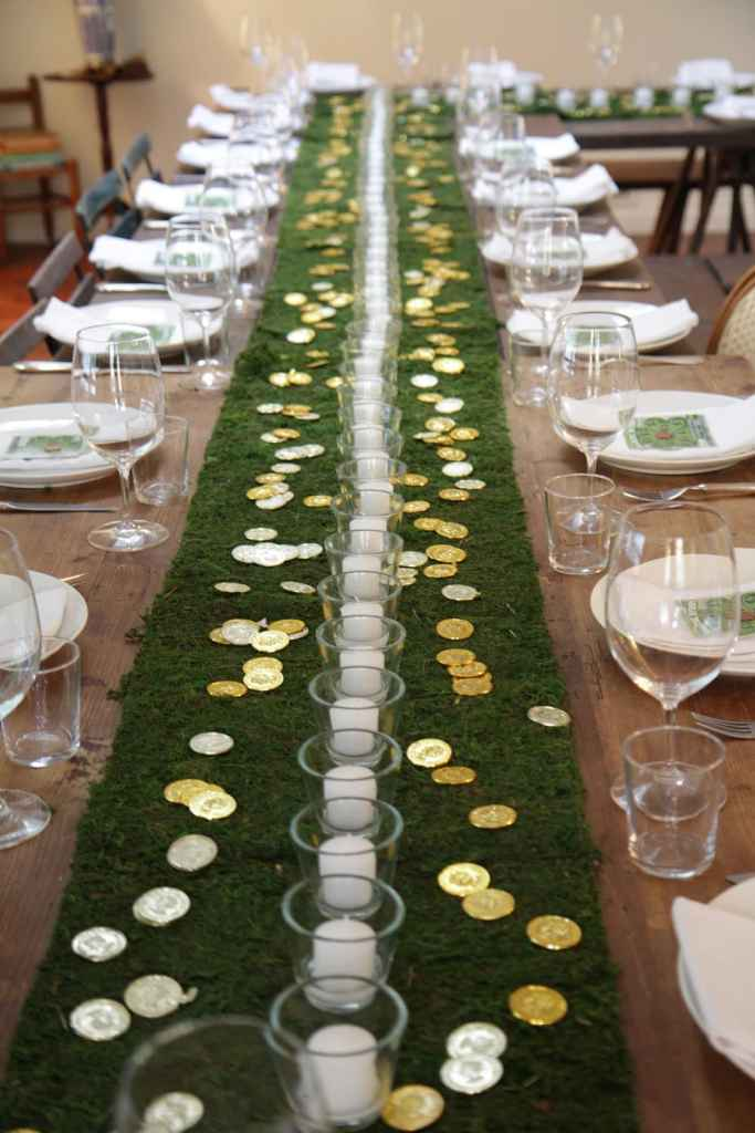 St patrick's day party table runner