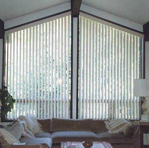 blinds for triangular windows electric angle top vertical blinds angle top bottom and triangle window treatments